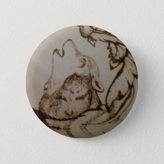 Howling Wolf 2 Inch Round Button