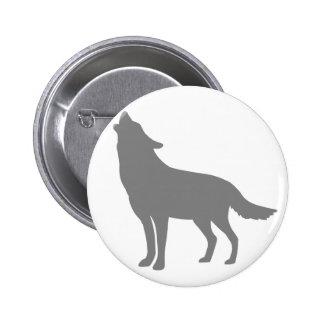 Howling Wolf 2 Inch Round Button
