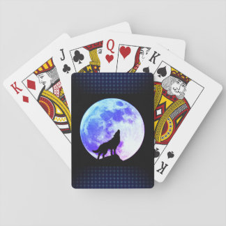 Howling Wolf A Playing Cards, Standard Index faces Playing Cards