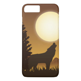 Howling wolf and bright Moon iPhone 7 Plus Case