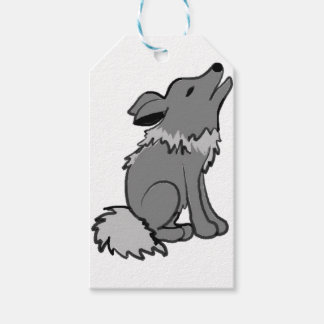 Howling wolf animal art gift tags