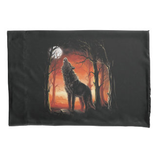 Howling Wolf at Sunset (2 sides) Pillowcase
