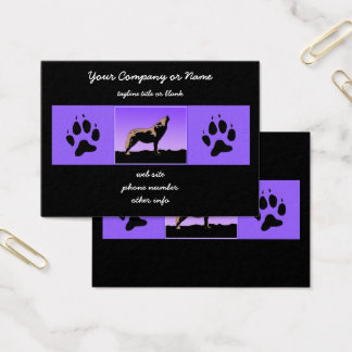 Howling Wolf at Sunset Business Card