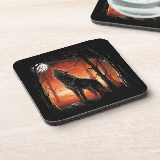Howling Wolf at Sunset Coasters (set of 6)