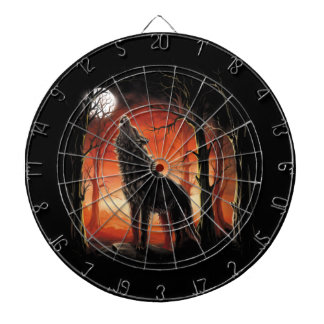 Howling Wolf at Sunset Dart Board