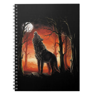 Howling Wolf at Sunset Notebook