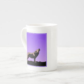 Howling Wolf at Sunset Tea Cup