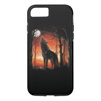 Howling Wolf at Sunset Tough iPhone 7 Case