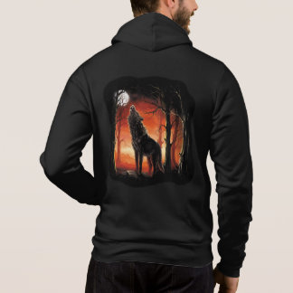 Howling Wolf at Sunset Zip Hoodie