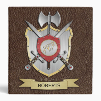Howling Wolf Battle Crest Brown Binders