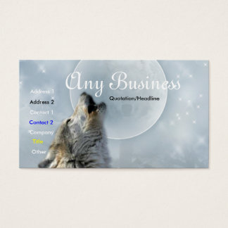 Howling Wolf busines card 02customizable