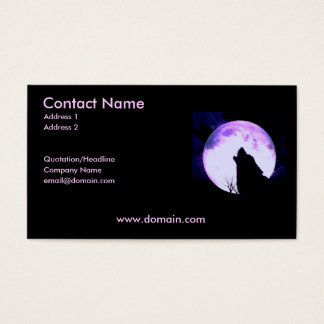 Howling Wolf Business Card