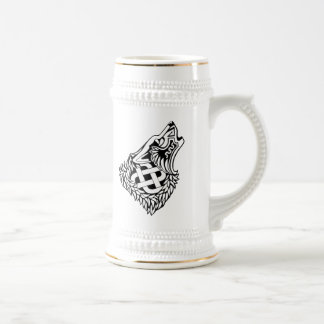 Howling Wolf Celtic Knotwork Beer Stein