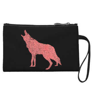 howling wolf coyote wristlet