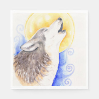 Howling Wolf Disposable Napkins