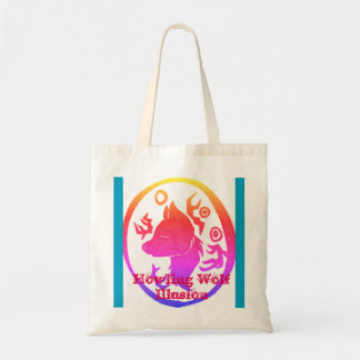 Howling Wolf Illusion Tote Bag