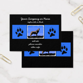 Howling Wolf in Winter Business Card