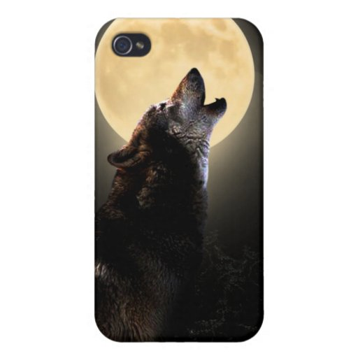 howling wolf ipod touch case iPhone 4/4S cases