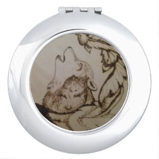 Howling Wolf Mirror For Makeup