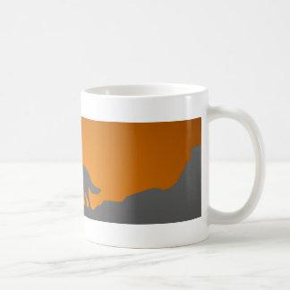 Howling wolf mug