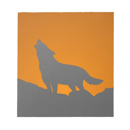 Howling wolf note pad