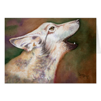 Howling Wolf Pup Note Card