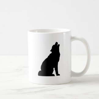 Howling Wolf Silhouette Coffee Mug