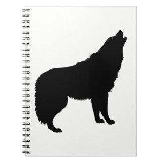 Howling Wolf Silhouette Notebooks