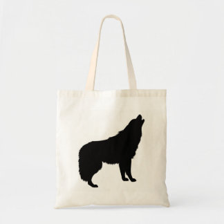 Howling Wolf Silhouette Tote Bag