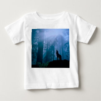 Howling wolf - wild wolf - forest wolf baby T-Shirt
