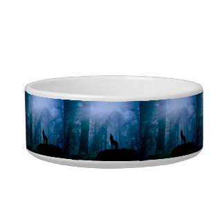 Howling wolf - wild wolf - forest wolf bowl