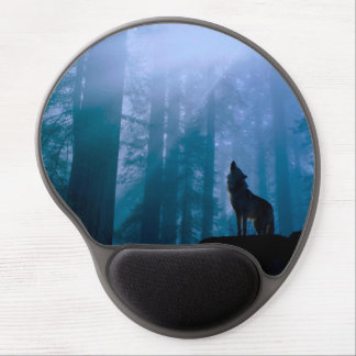 Howling wolf - wild wolf - forest wolf gel mouse pad