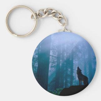 Howling wolf - wild wolf - forest wolf keychain