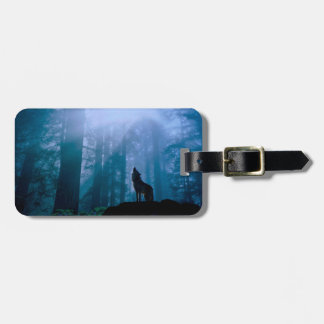 Howling wolf - wild wolf - forest wolf luggage tag