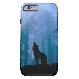 Howling wolf - wild wolf - forest wolf tough iPhone 6 case