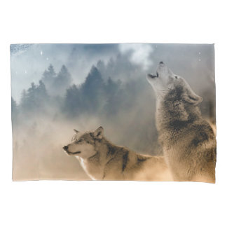 Howling Wolfes Foto Pillowcase