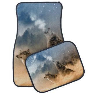Howling Wolves Car Mat