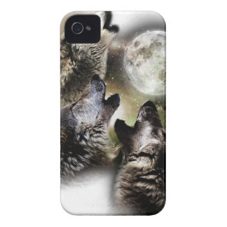 Howling Wolves Moon iPhone 4 Covers