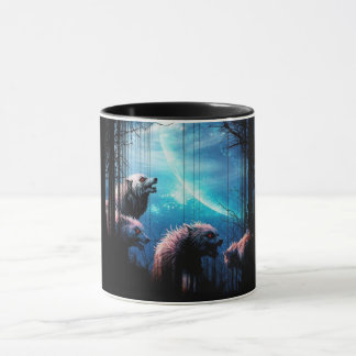 Howling Wolves With Red Eyes Mug