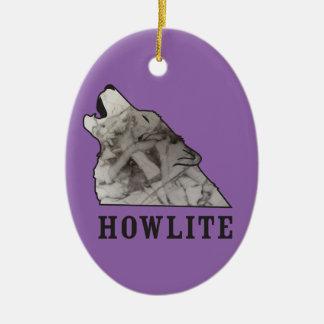 howlite.ai ceramic oval ornament