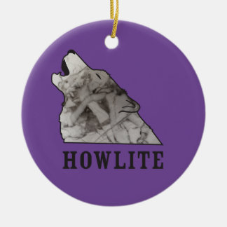 howlite.ai round ceramic ornament