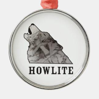 howlite.ai Silver-Colored round ornament