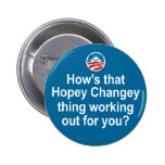 How's that Hopey Changey Thing Working Out... 2 Inch Round Button