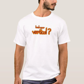 how's your vertical? amber logo T-Shirt