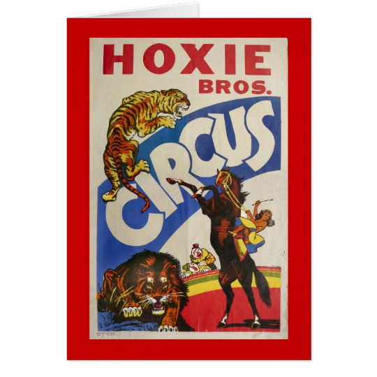 Hoxie Bros. Circus Card