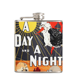 Hoyt's A day and a night in New York Flasks