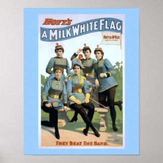 Hoyt's A Milk White Flag Vintage Theatre Poster
