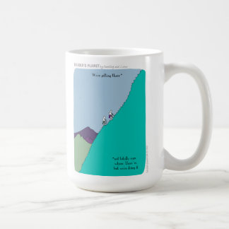 """HP2242 we're getting there """"harold's planet"""" Coffee Mug"""