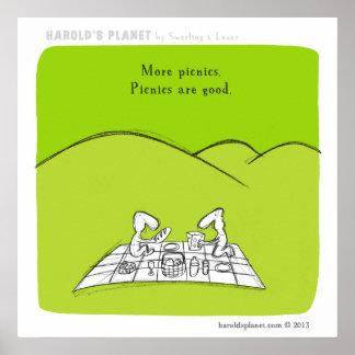 "HP5041 ""harold's planet"" picnic Poster"