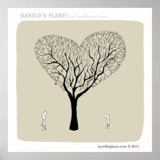 "HP5042 ""harold's planet"" ""love tree"" love Poster"
